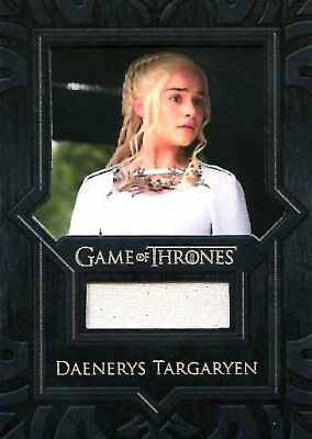 Game Of Thrones Valyrian Steel RELIC card VR4 DAENERYS TARGARYAN WHITE DRESS