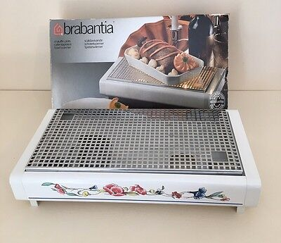 Brabantia Food Warmer White & Poppy Floral Poppies Candles Tealight Snuffers