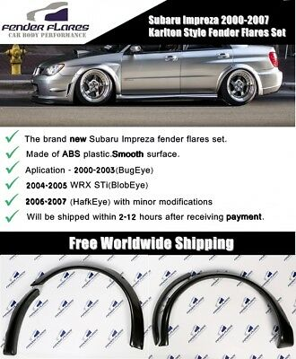 Subaru Impreza WRX STi 00-07 Karlton Style Fender Flares Wide Body Kit Arches US