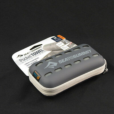 Sea to Summit Pocket Towel Compact Quick Dry for Camping Hiking Sport - Grey