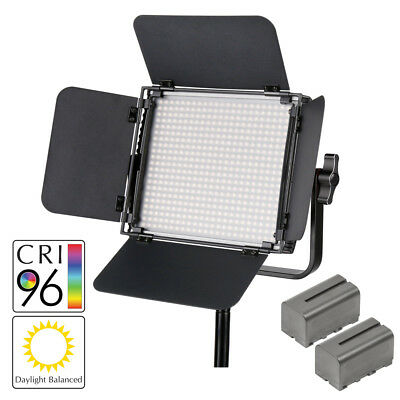 LECO500 II LED Daylight Balanced LED Panel (Improved Colour) with Batteries