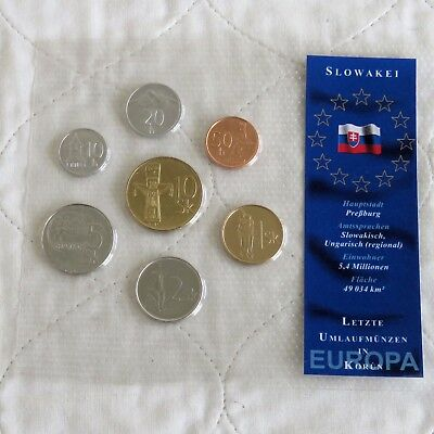LATVIA 8 COIN PRE EURO UNCIRCULATED TYPE SET - sealed pack