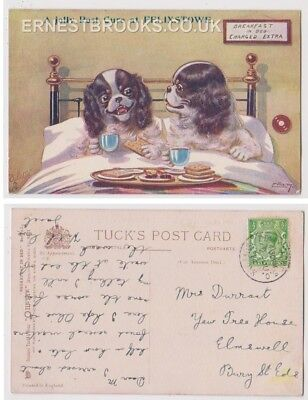Early Postcard,Suffolk,Felixstowe, Comic, Breakfast In Bed Charged Extra, 1914,