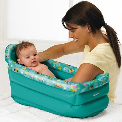 Tomy Be Baby Inflatable Travel Bath on the go, holiday, bathe, child tot blow up