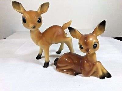 Vintage Plastic Reindeer Set Of 2