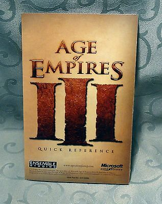 Age of Empires III Quick Reference Guide - Fold Out - Manuel - Only