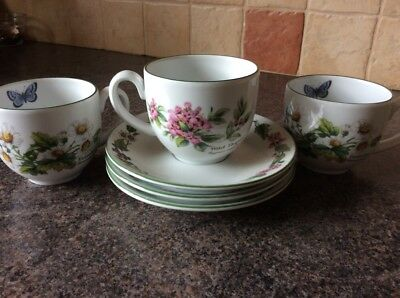 Royal Worcester Herbs Tea Cups & Saucers