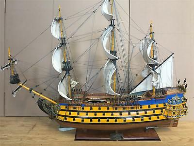"Le Soleil Royal 1669  Wooden Model Tall Ship Sail Boat 90 Cm.(35 1/2"") Model New"