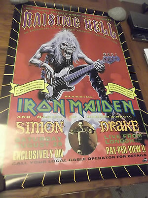 IRON MAIDEN  RAISING HELL PAY PER VIEW PROMO POSTER 26x34 1993