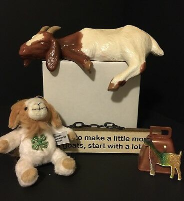 GOATS COLLECTION 4H Goat, Goat Necklace, Boer Goat,  Dairy Goat Bell Lot of 6