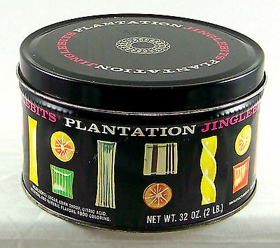 Vintage Tin Plantation Jinglebits Candy Collectors Can Box Empty Container USA