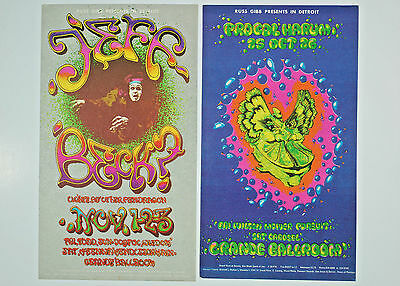 Lot of 2 Genuine Grande Ballroom Postcards-Jeff Beck and Procol Harum- Excellent