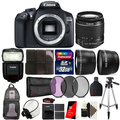 Canon EOS 1300D DSLR Camera w/ 18-55mm Lens , 430EX lll Flash and Accessory Kit