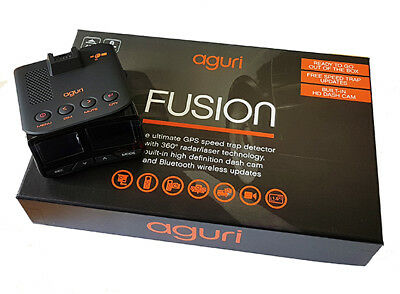 Aguri Fusion GTX200 GPS Speed Trap Detector with Built-in Dash Cam and Bluetooth
