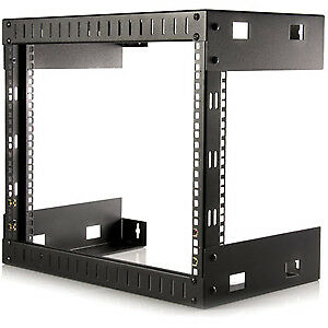 NEW! Startech 8U Open Frame Wall Mount Equipment Rack 12In Deep 80.00 Kg Load Ca