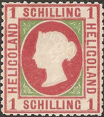 UN-USED 1869 HELIGOLAND 1 Schilling STAMP British Empire COLONY Queen Victoria