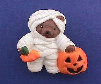 BUY1&GET1@50%~Easter Unltd PIN Halloween MUMMY Teddy BEAR JOL PUMPKIN Vtg Brooch