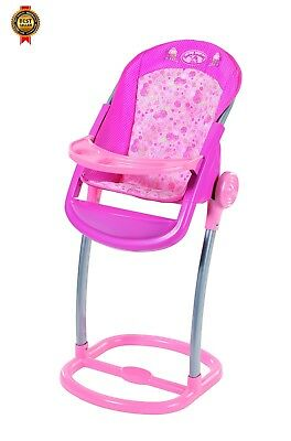Zapf Creation Baby Annabell High Chair Toy NEW