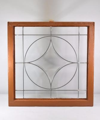 """Framed Clear Glass Beveled 4 Point Star Leaded Window 30"""" X 30"""""""