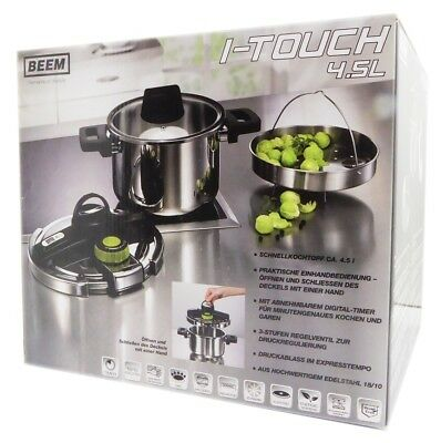 Beem I-Touch, Pressure Cooker einhandbedienung, 4.5L, incl. Timer and Glass Lid