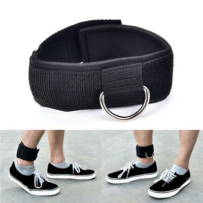 D-ring ankle anchor strap belt multi gym cable attachment thigh leg pulleyStrapW
