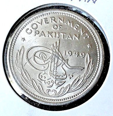 1949 Pakistan  1 Rupee   Mint State Brilliant Uncirculated