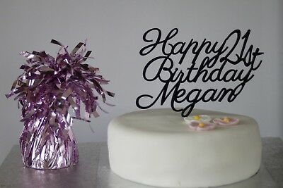 Personalised acrylic Happy Birthday cake topper Any age  18th 21st 30th 40th