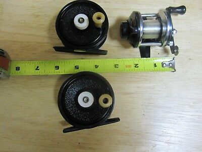 Lot of 3 B&M,HT Tackle,Crappie,Perch or Ice Fishing Reels,Ready to Fish
