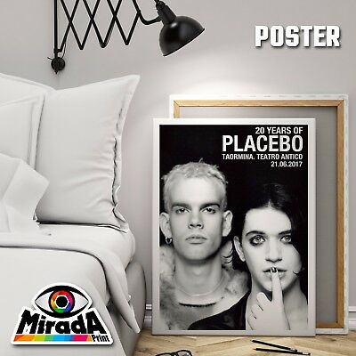 Poster 20 Years Of Placebo Giugno 2017 Manifesto Carta Fotografica Top Quality