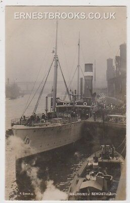 Early Postcard, Ships, New Londoner, At Newcastle Quay, RP