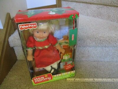 Fisher Price Little Mommy Holiday Party Merry Christmas Red dress NEW in Box toy