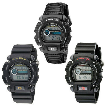 Casio G-Shock Mens Sport Watch DW9052 - Black, Grey, Black & Red