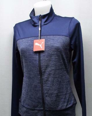 New Ladies SMALL Colorblock full zip jacket Layer peacoat navy