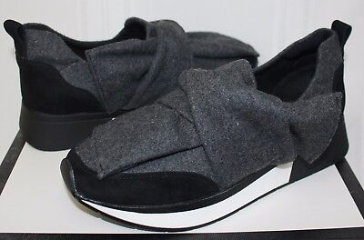 3dcc75bf91b J Slides Kim Slip On Sneaker style shoes Black Suede Grey Fabric New with  Box