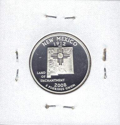 2008-S 90% Silver Proof New Mexico State Quarter