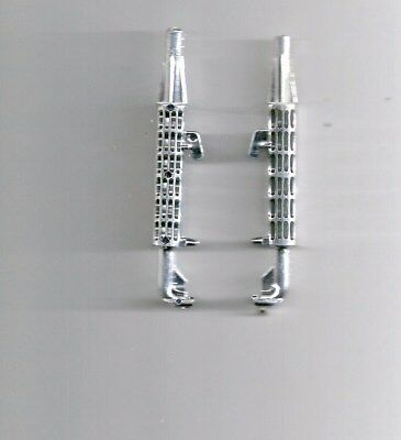 PAIR 0F NYLINT  smoke stacks  CHROME  PLASTIC  REPLACEMENT PART