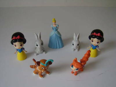 DISNEY SNOW WHITE  & OTHER - BUNDLE  7 X figures ( 2.5 INCH , 2 INCH )