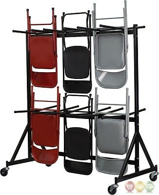 Hanging Folding Chair Dolly With Black Powder Coat Finish