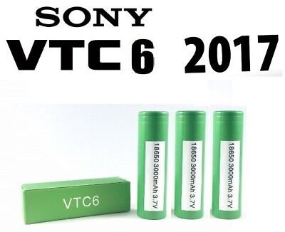 4 x Genuine Sony VTC6  18650 3000mAh 3.7V 30A Rechargeable Battery Vape Battery