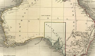 Australia New Holland European discovery dates South Wales c.1845 old Dower map