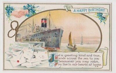 Early Postcard, Ships,  Greeting Card,