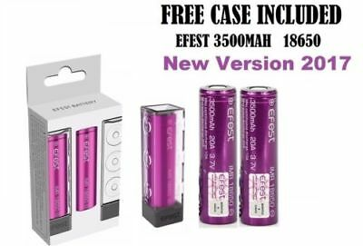 2 x HIGH DRAIN  Rechargeable BATTERY Genuine Efest IMR 18650 3500mAh 20A 3.7v ,,