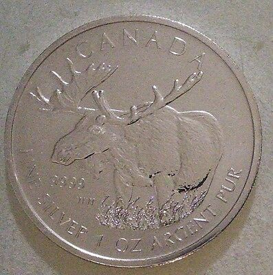 1oz Canadian Moose 2012 Silver Bullion Coin - 99.99% purity