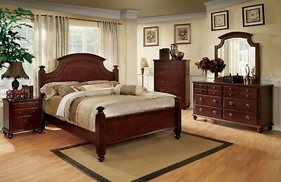 Augusta 6 pc Traditional Queen Bedroom Furniture Set w/ 2 Night Stands & Chest