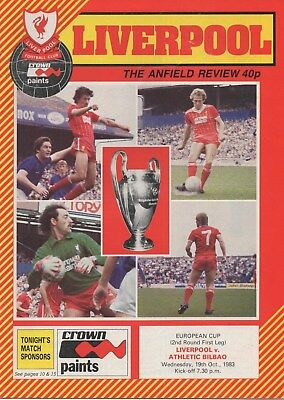 Oct 83 LIVERPOOL v ATHLETIC BILBAO