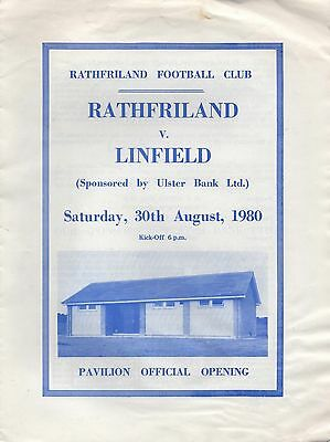 Aug 80 RATHFRILAND v LINFIELD