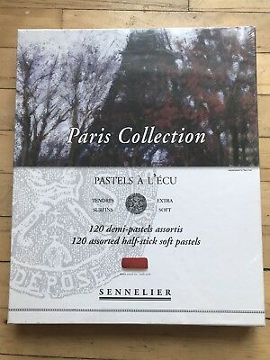 Sennelier 120 Assorted Half Stick Soft Pastels Paris Collection New In Box