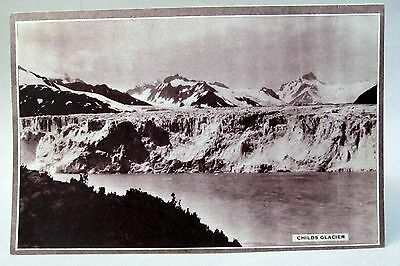 circa 1929 Alaska Steamship CHILDS GLACIER blank menu card