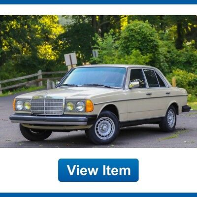 1983 Mercedes-Benz 300-Series Turbo Diesel 1983 Mercedes Benz 300D Turbo Diesel Super Low 78K Mi Florida Car Collectible