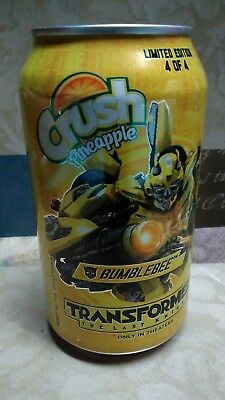 Crush Pineapple Soda Pop 12oz EMPTY Can Bumblebee Camaro Transformers